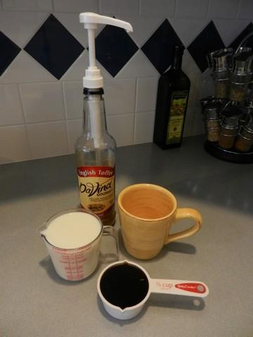 Latte ingredients