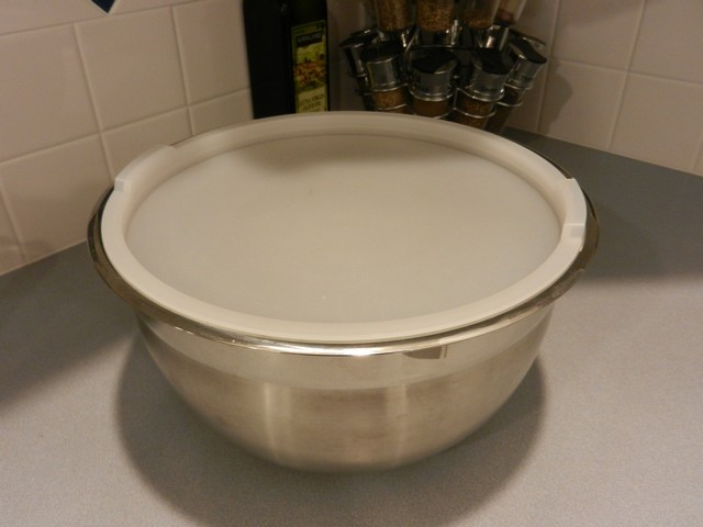 Stainless steel bowl with lid