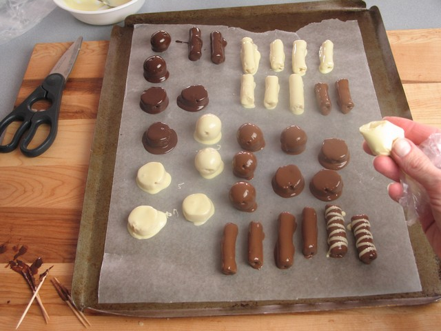 Christmas treats, marzipan, chocolate