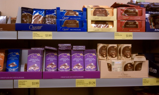 Delicious European chocolates at Aldi's