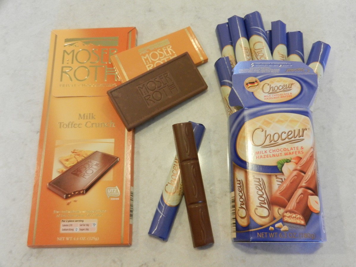 European Aldi chocolates are inexpensive but amazing, and melt in your mouth! High quality, how awesome!