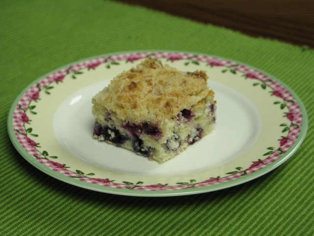 Blueberry cream cheese coffee cake, piece