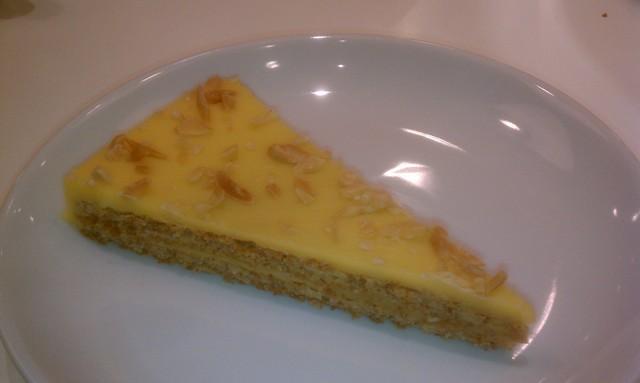 Almond cake chocolate and butterscotch recipe