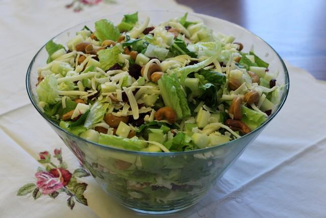 Romaine Cashew Cranberry Salad Recipe