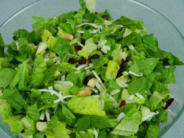 Romaine cashew craisin salad