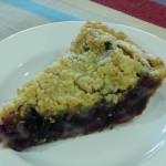 Homemade creamy blueberry pie, recipe