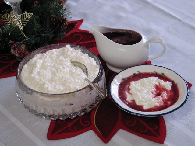 Norwegian rice pudding, Christmas