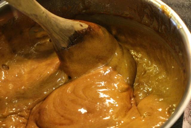 Caramel Corn, cooking sauce