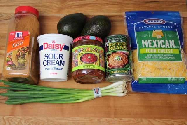 Ingredients for Mexican Guacamole Dip