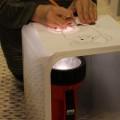 DIY Tracing Light Box, Using Flash Light
