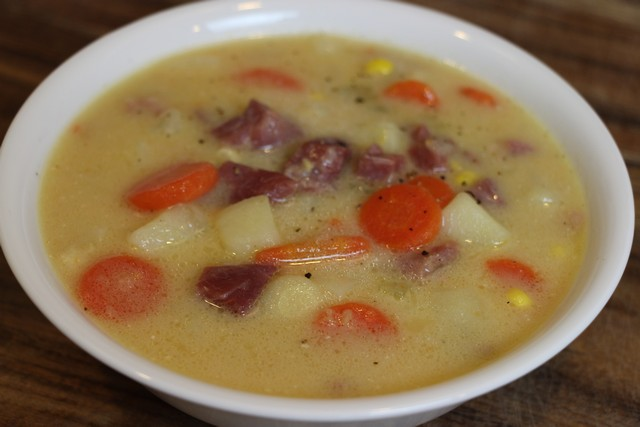 Homemade Tasty, Creamy Ham & Potato Soup from Stock, Recipe
