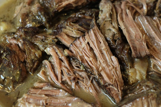 Slow Cooker Pot Roast Recipe; Fall Apart Tender Beef