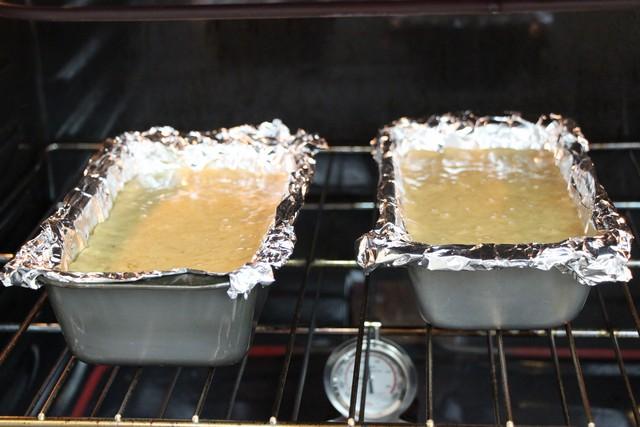 Banana bread baking