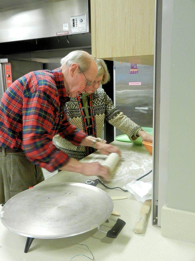 Rolling lefse dough