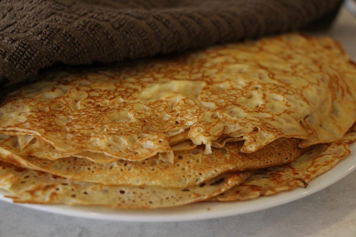 Recipe, authentic Norwegian pancakes, traditional recipe