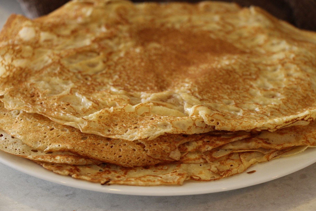 Recipe, authentic, traditional Norwegian thin pancakes