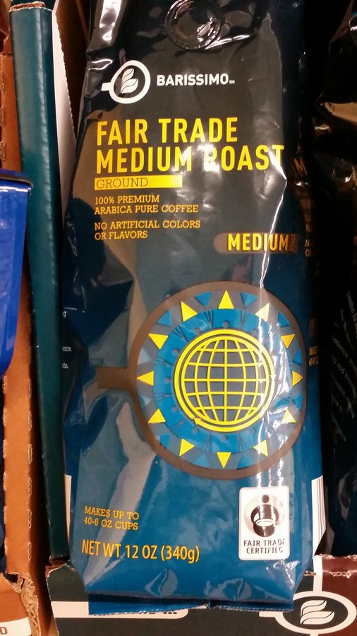 Aldi coffe, Fair Trade. They also carry organics, natural foods, and some gluten free. Lists of recommended and not-recommended items at Aldi.