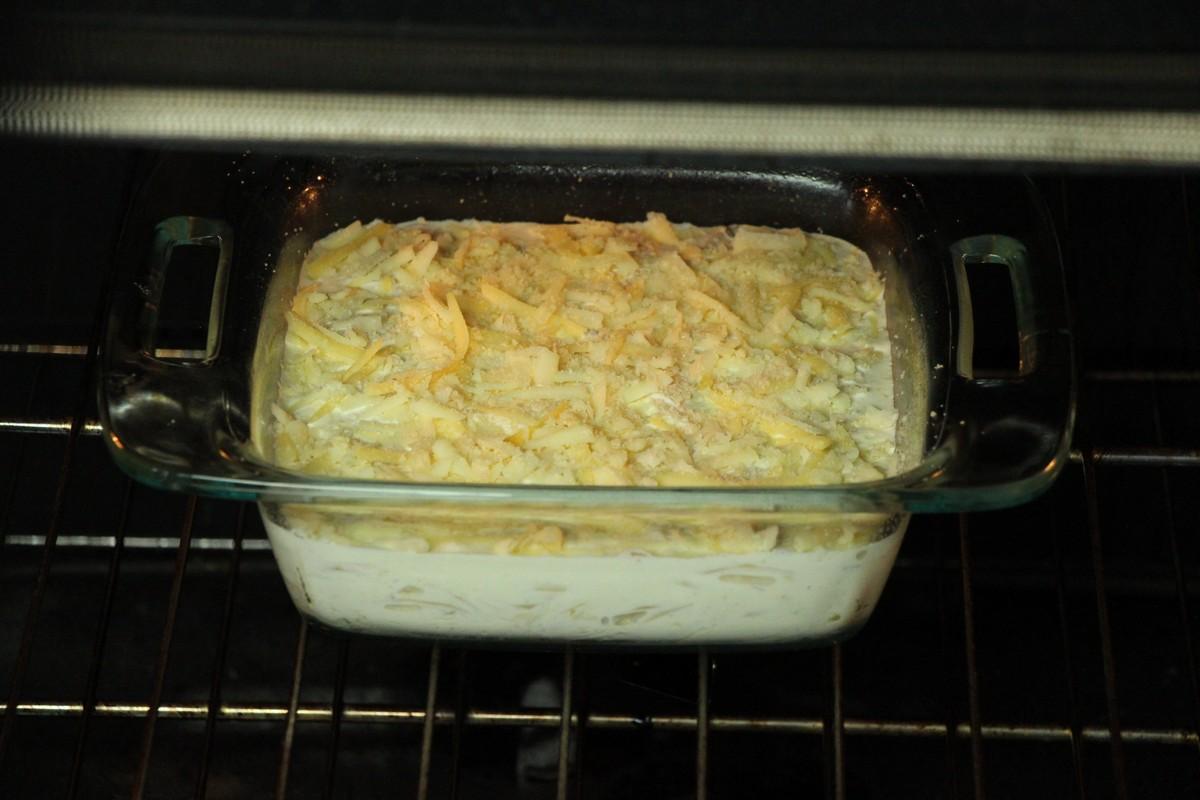 Baking ultimate cheese & cream scalloped potatoes