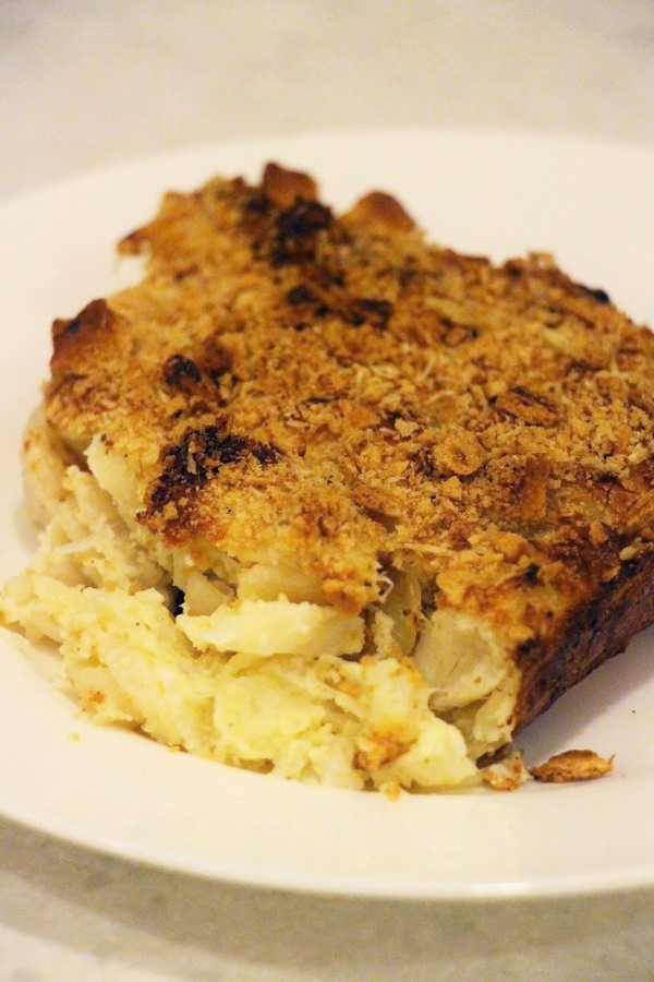 Picture tutorial on old fashioned Norwegian Fiskegrateng, Fish & Macaroni au gratin Casserole