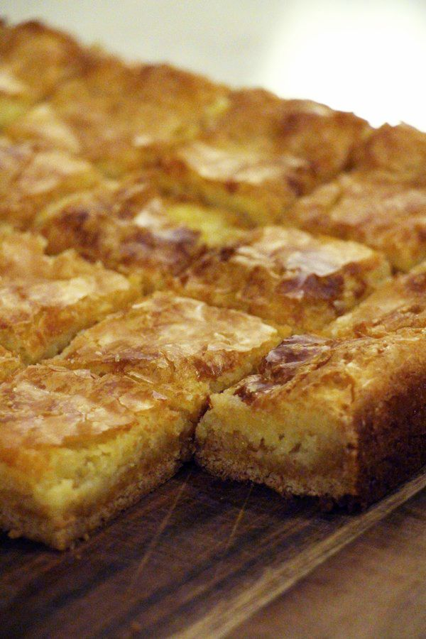 Cream Cheese Squares recipe. Sweet, sticky and gooey! Picture tutorial!