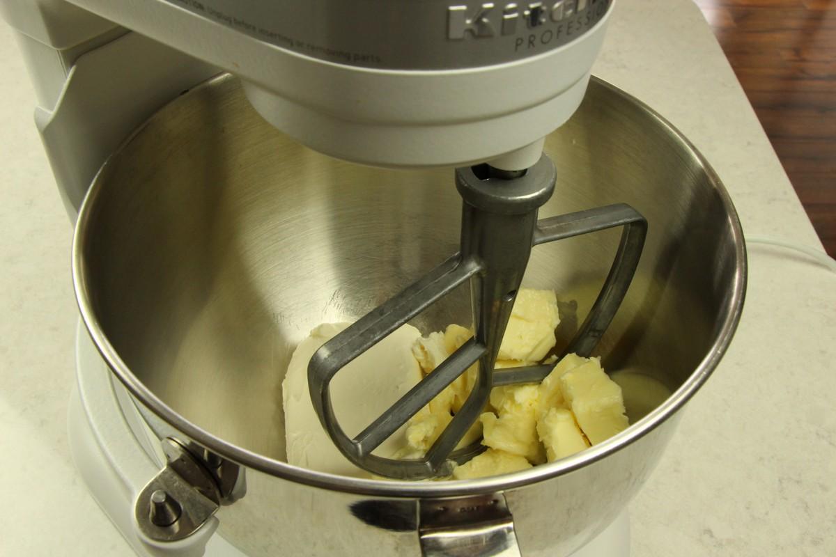 Mixing ingredients for sugar cookies.