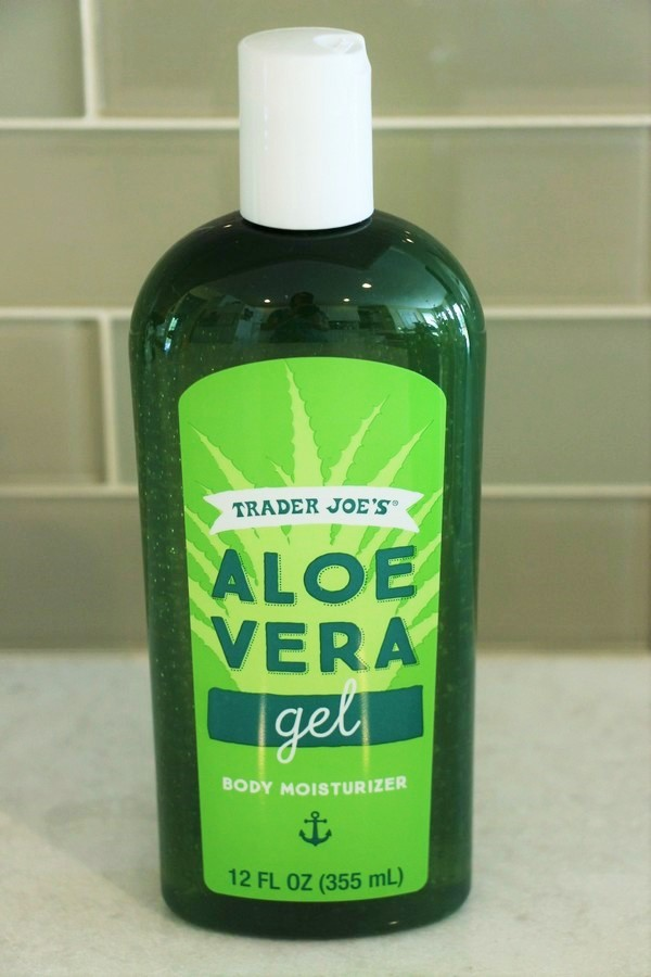 A look at ingredients and safety in soaps and lotions at Trader Joe's. Aloe Vera Gel Body Moisturizer.