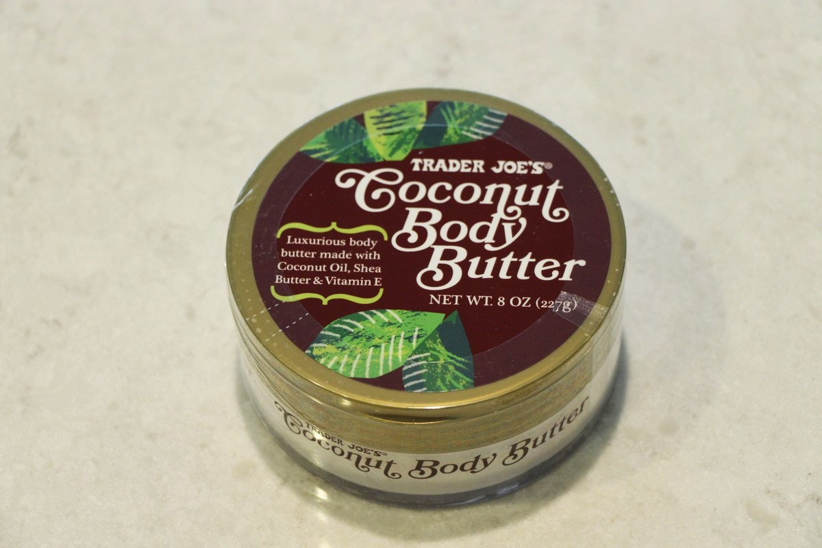 A look at ingredients and safety in soaps and lotions at Trader Joe's coconut body butter.